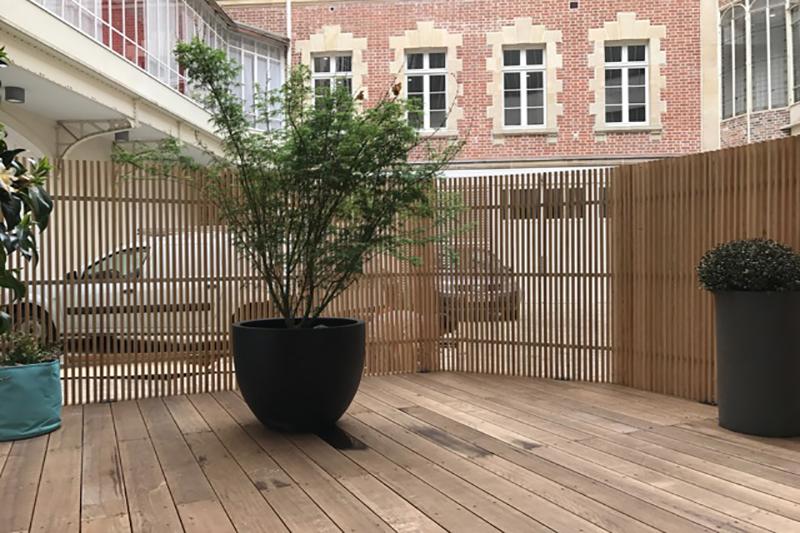 claustra courbe bois kit kurly agencement salon espace évènementiel
